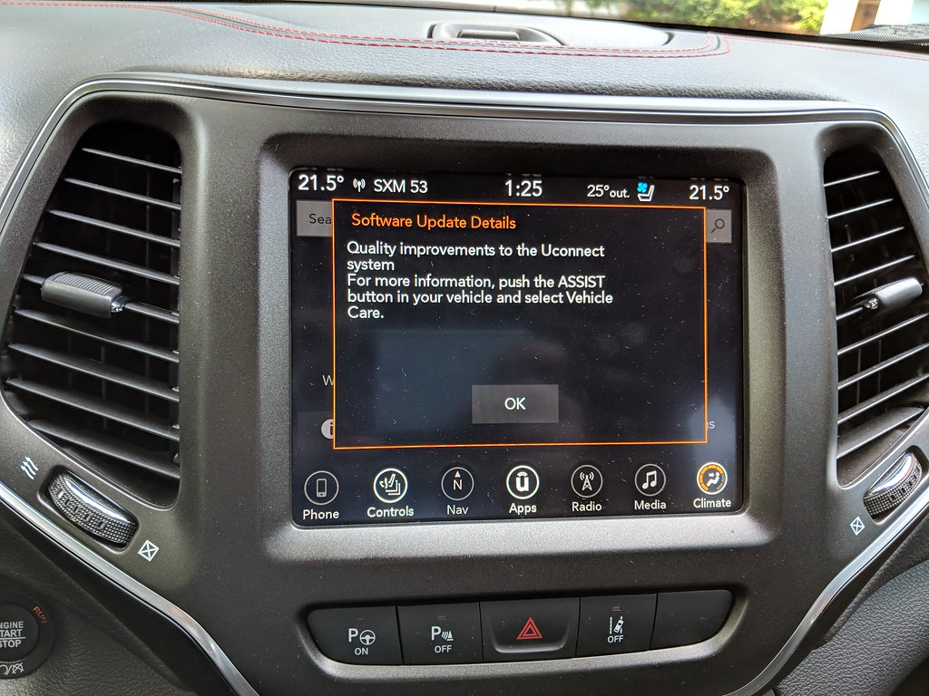 2019 Cherokee Software Update Available - 2014+ Jeep Cherokee Forums