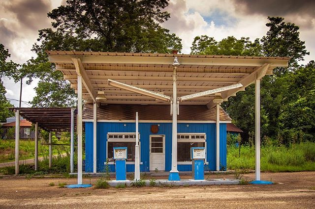 Blue Gas Station Red Level Alabama 2018 **** from �Way Down Yonder� @doncolinphotographs https://ift.tt/2jkODAe #roadtrip #visiblenarrative #fineart #fineartphotography #documentary #cultural #roadside #smalltown #rural #backroad_visions #renegade_rural #