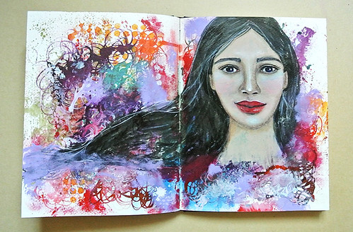 Revisiting-old-techniques--a-girl-from-my-art-journal