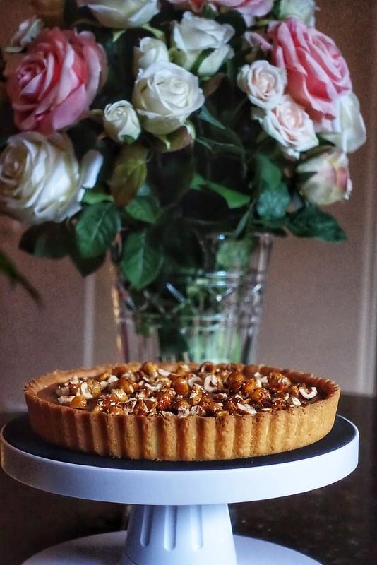 Chocolate Hazelnut Praline Tart
