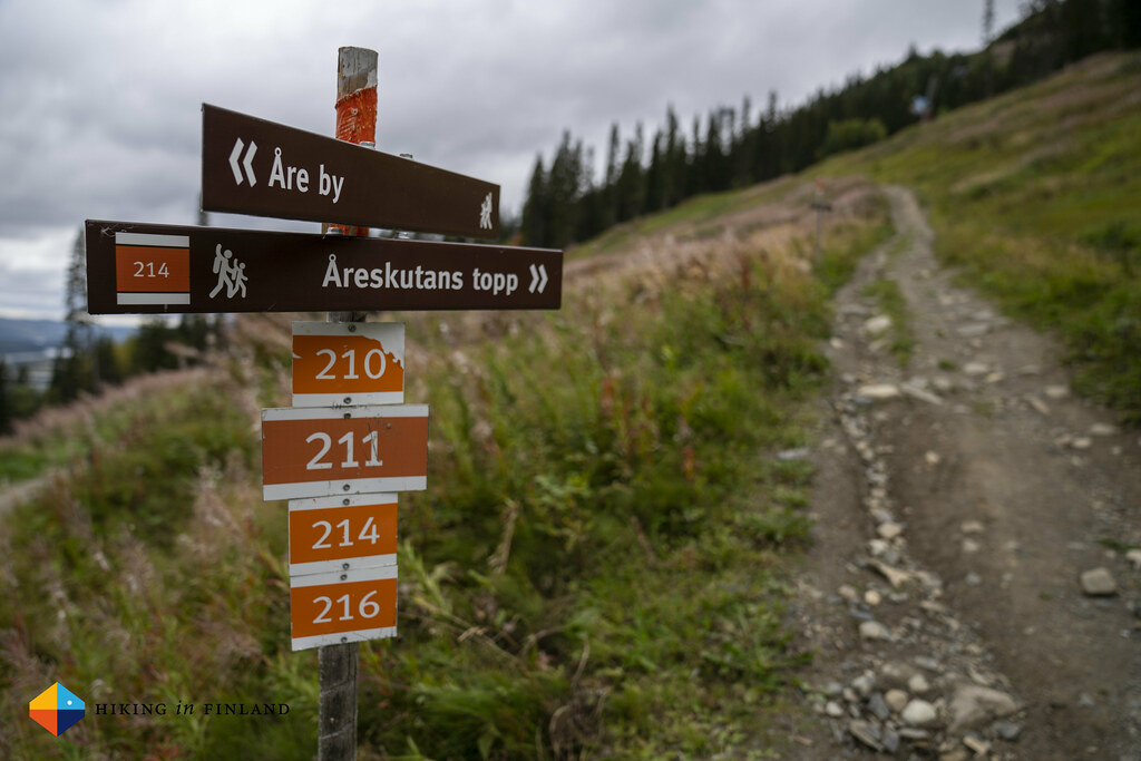 Sign on Åreskutan