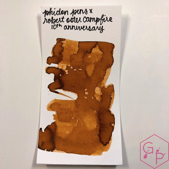 Robert Oster Campfire Ink Review for Phidon Pens 10th Anniversary 8