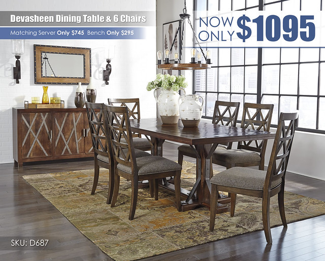 Devasheen Dining Table & 6 Chairs_D687-25-01(6)-80-R40250