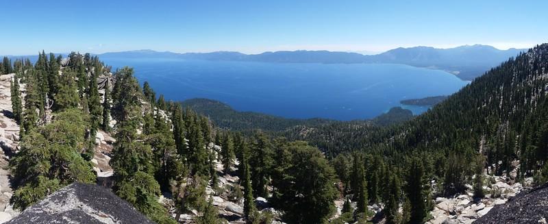 Lake Tahoe panorama from the summit of Jakes Peak