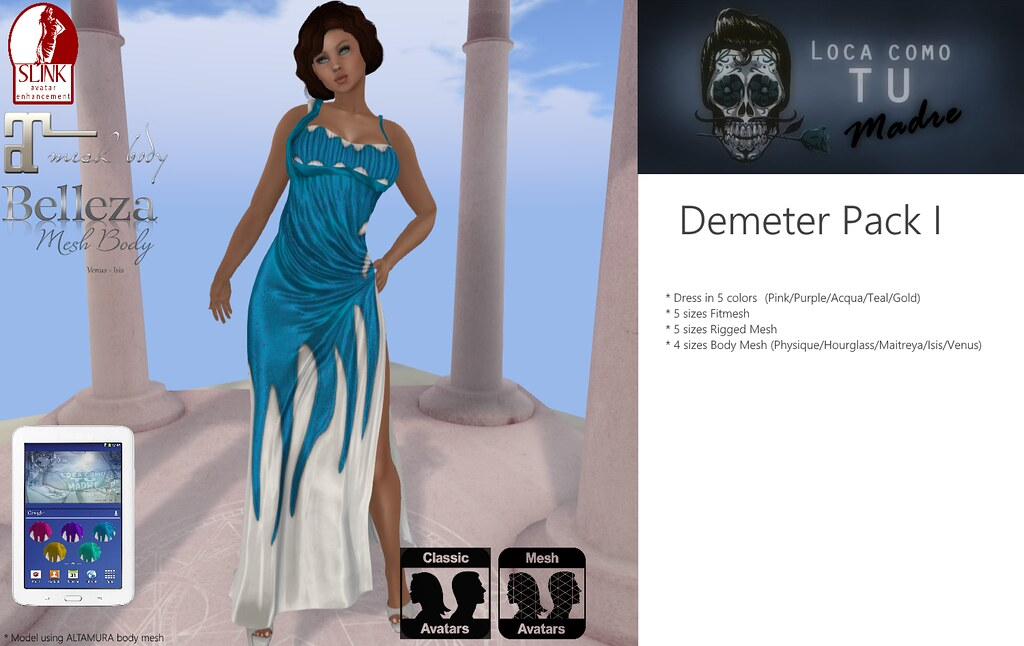 Demeter Dress Pack I - TeleportHub.com Live!