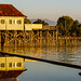Golden Hour at old Bathhouse Lindau Lake Constanze