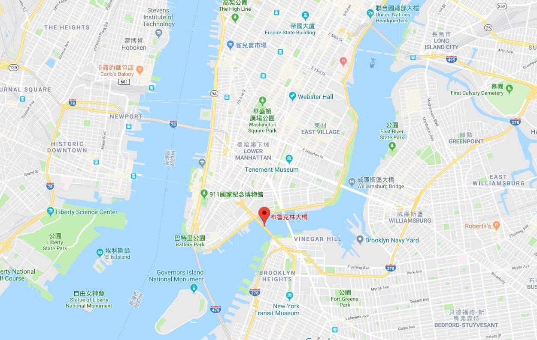 布魯克林大橋地圖