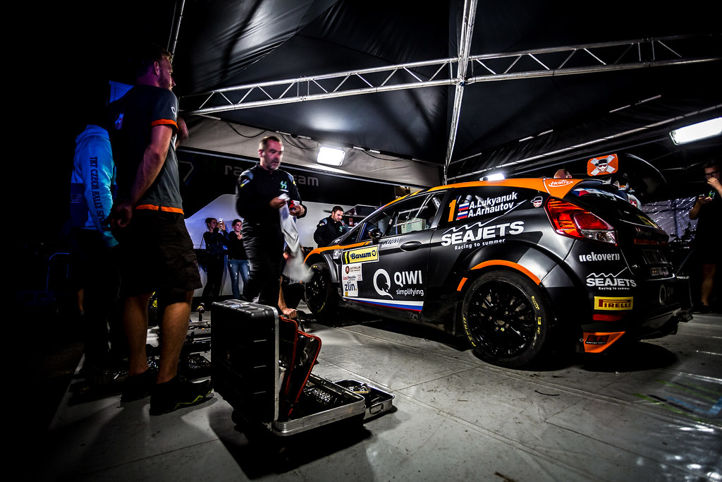 01 Lukyanuk Alexey, Arnautov Alexey, RUS/RUS, Russian Performance Motorsport, Ford Fiesta R5, service during the 2018 European Rally Championship ERC Barum rally,  from August 24 to 26, at Zlin, Czech Republic - Photo Thomas Fenetre / DPPI