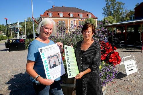 Ordförande Kerstin Svedberg och vice ordförande Marja Bergström
