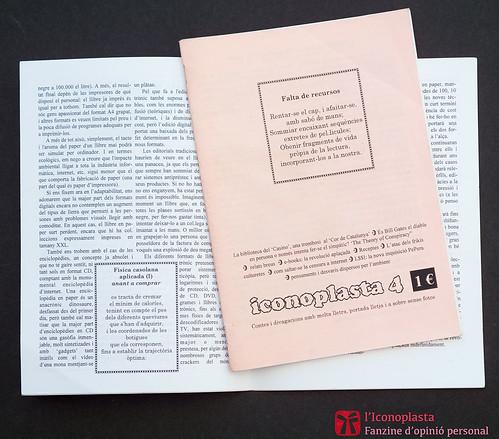 Iconoplasta n.4, fanzine d'opinió personal de Ferran Cerdans Serra