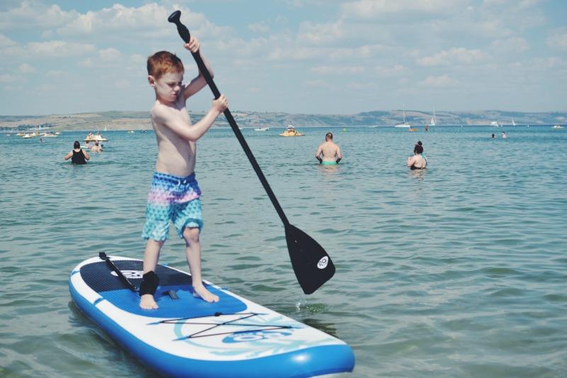 M paddleboarding