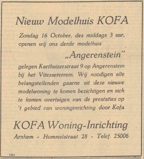 "Opening modelwoning ""Angerenstein"""