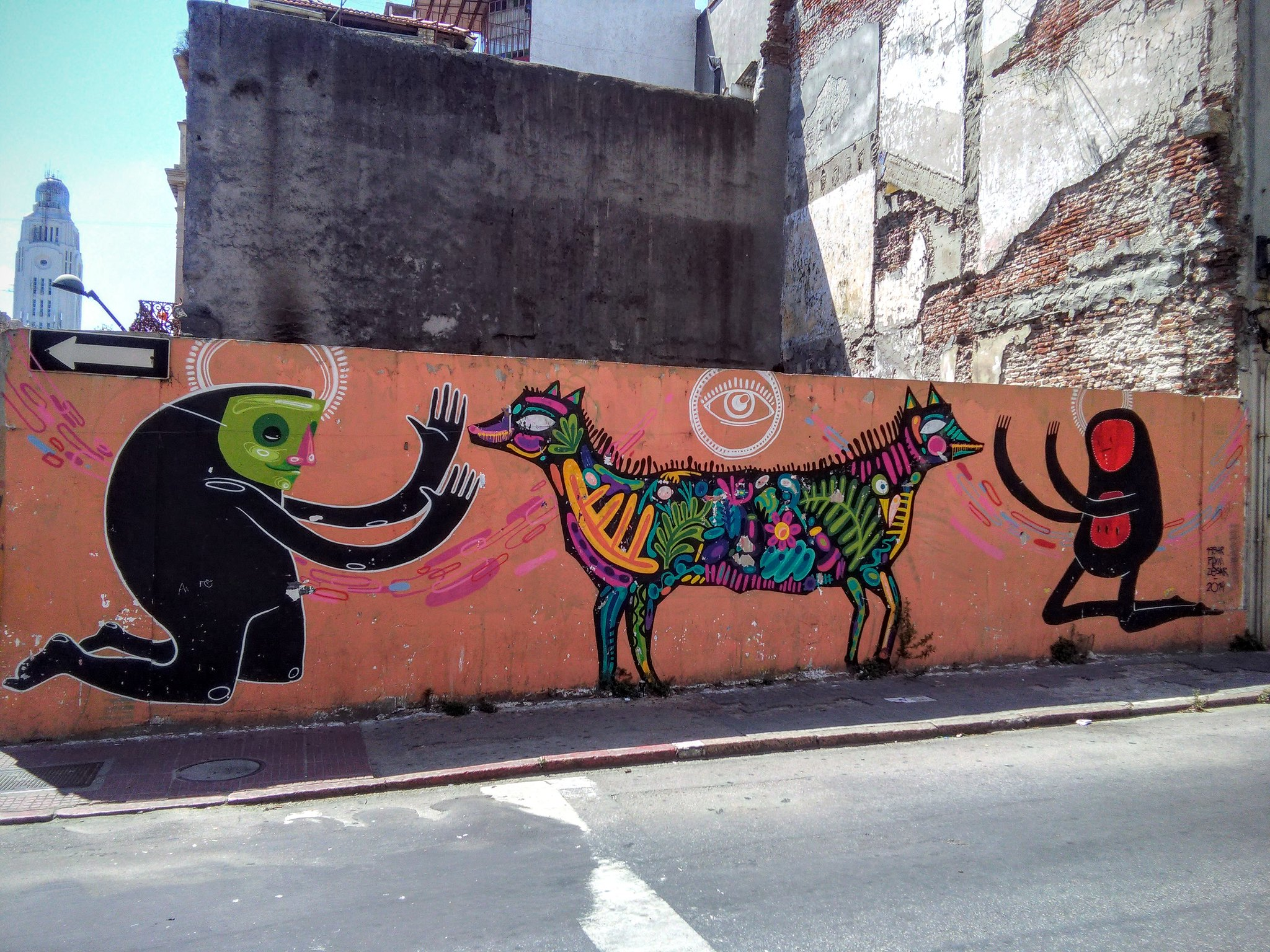 Street art in Montevideo old town