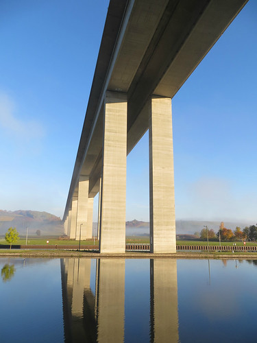 Docked under the bridge