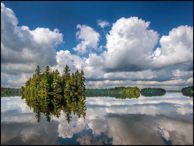 Calm Big Trout Lake, Nikon D600, AF Zoom-Nikkor 18-35mm f/3.5-4.5D IF-ED
