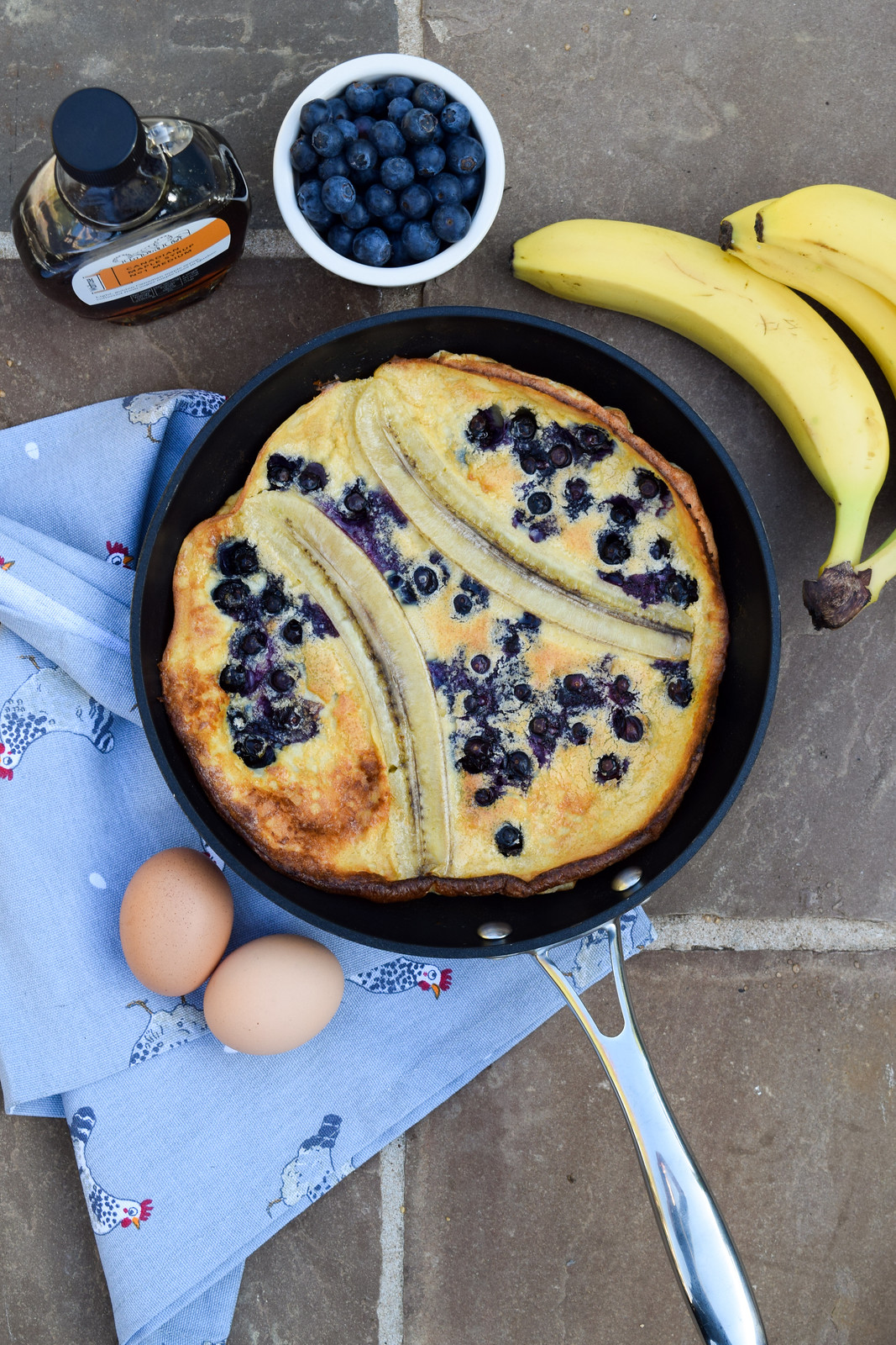 Banana & Blueberry Dutch Baby Pancake