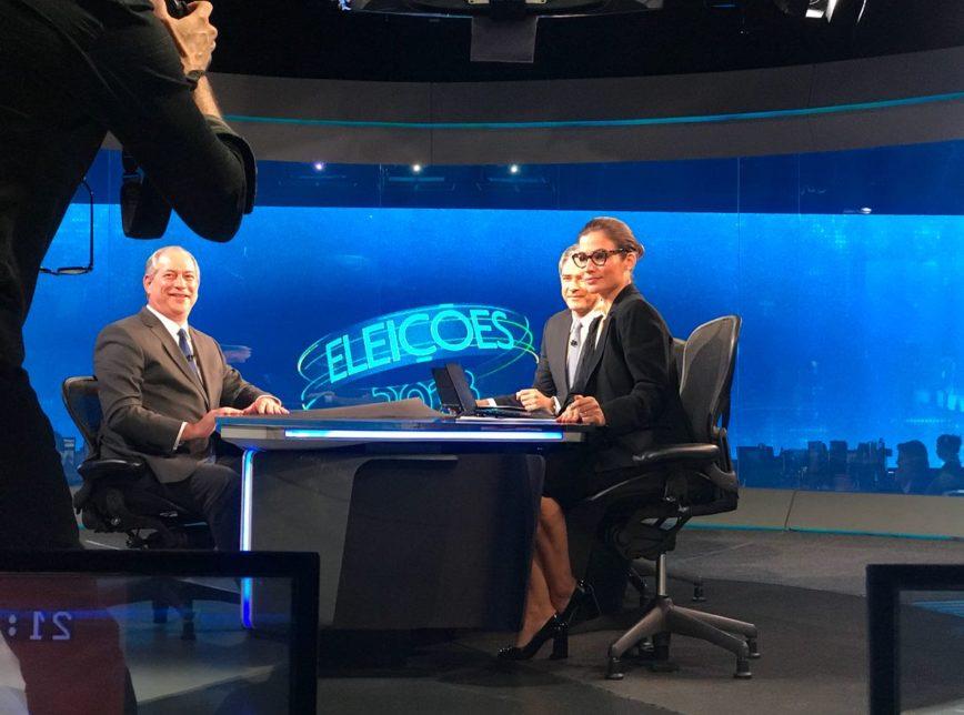 No Jornal Nacional, Ciro Gomes responde a acusações contra presidente do PDT, Ciro no JN