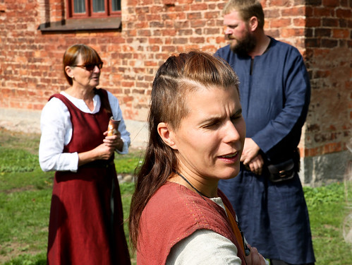 Monica Stangel Löfvall, Korp Wallman och Jörgen Jonsson utanför S:t Laurentii kyrka.