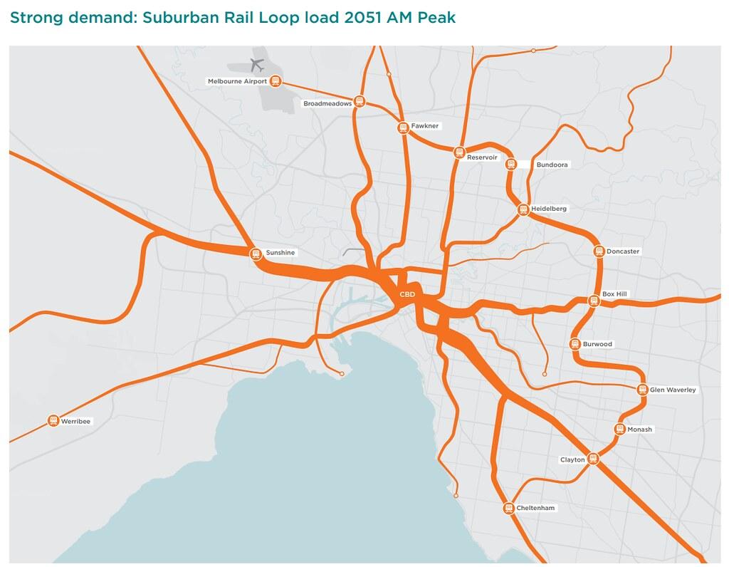 Suburban Rail Loop demand - 2051 - from Strategic Assessment document by Daniel Bowen