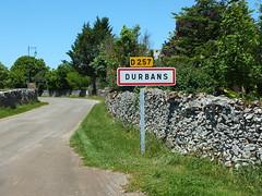Durbans - Panneau village