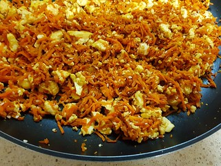 Carrot and Tofu Scramble