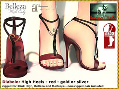 Bliensen - Diabolo - High Heels red
