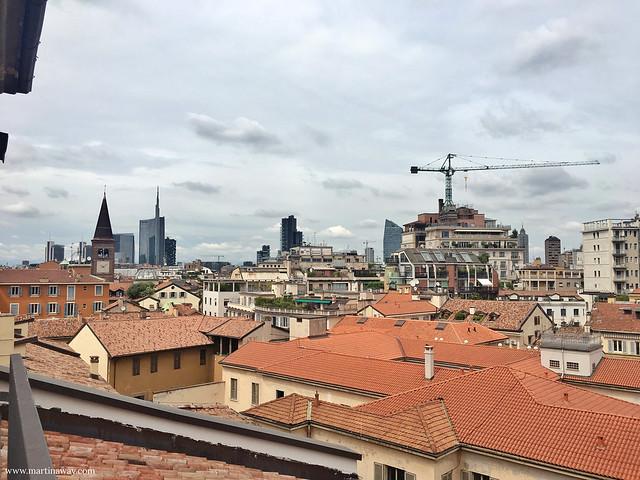Vista dal tetto della Pinacoteca di Brera