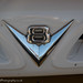 Ford V8 grille badge