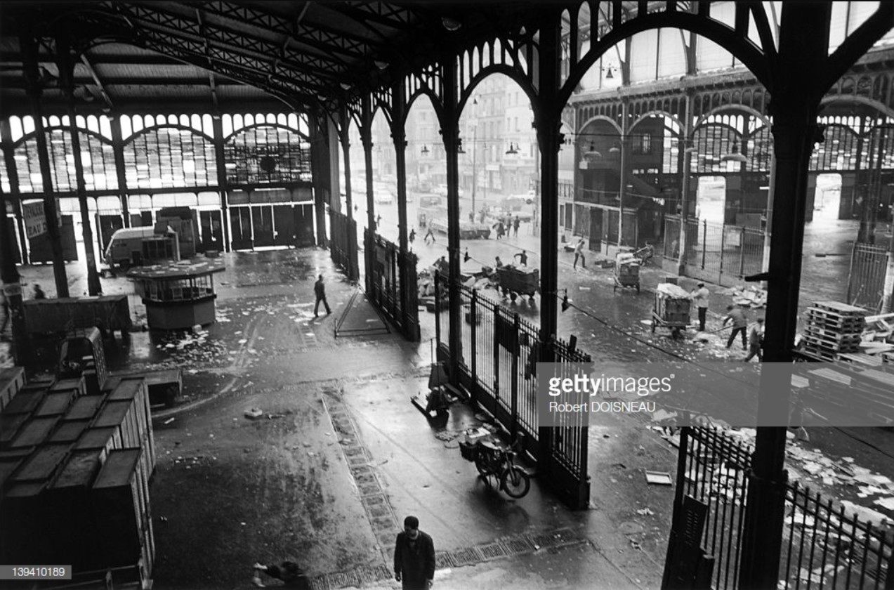1969. Демонтаж старого рынка в Ле-Аль