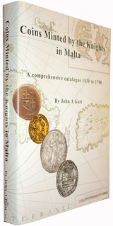 Coins Minted By The Knights in Malta oblique cover view