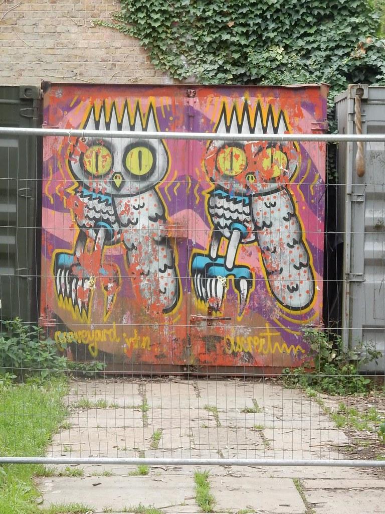 "Graffiti Owls - Abney Park Cemetery Woodberry Wetlands - Stoke Newington Reservoirs streetartlondon.co.uk/blog/2012/07/interview-dscreet/"" rel=""nofollow streetartlondon.co.uk/blog/2012/07/interview-dscreet/"