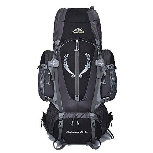 Cheap 80 L + 5 L Internal Frame Backpack Outdoor Waterproof Backpack Climbing Fishing Rucksack Hiking Daypack Camping Outdoor Trekking Mountaineering Bag ( Black )