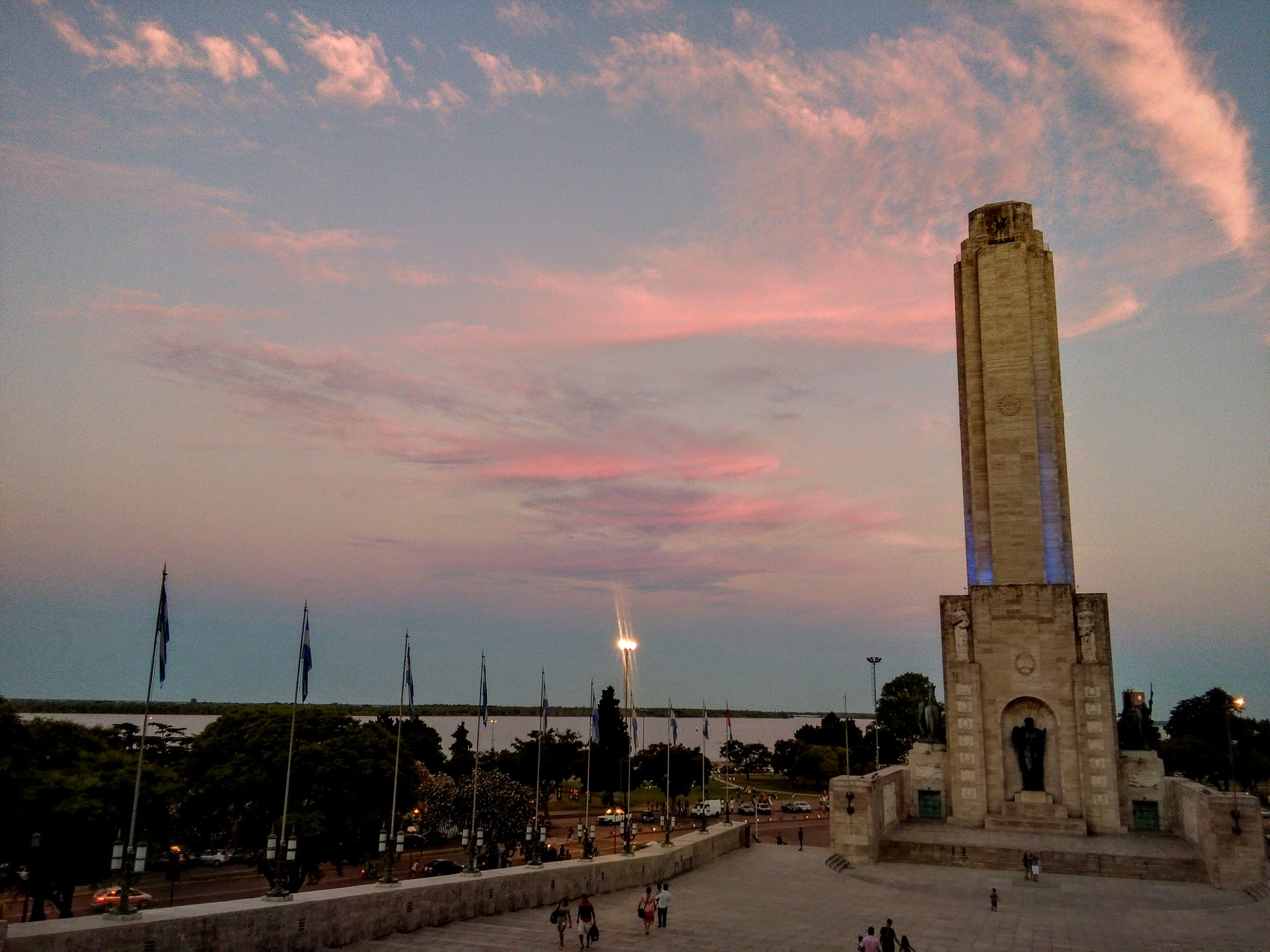 Monumento a la Bandera at sunset from last night