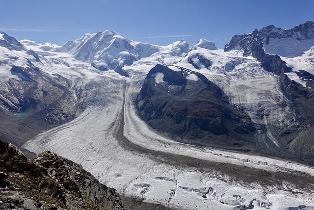 Glacier below Gornergrat