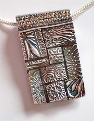 2018.10.07: Silver Quilt / Collage / Mosaic Pendant Sunday, Noon to 4 pm, at the North Hills Art Center