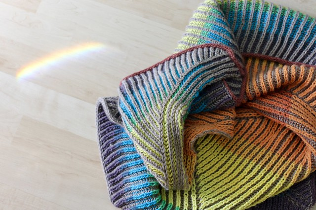 Rainbow Askews Me Shawl