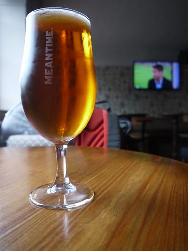 Meantime IPA - Nice Glass, average taste