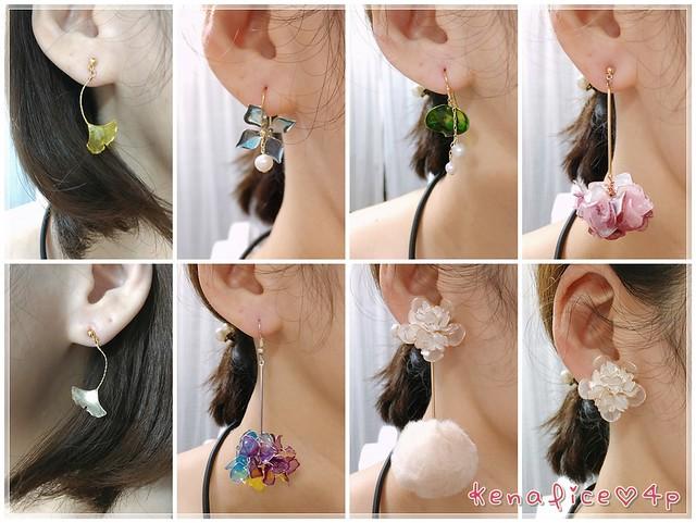 樹脂手工耳環