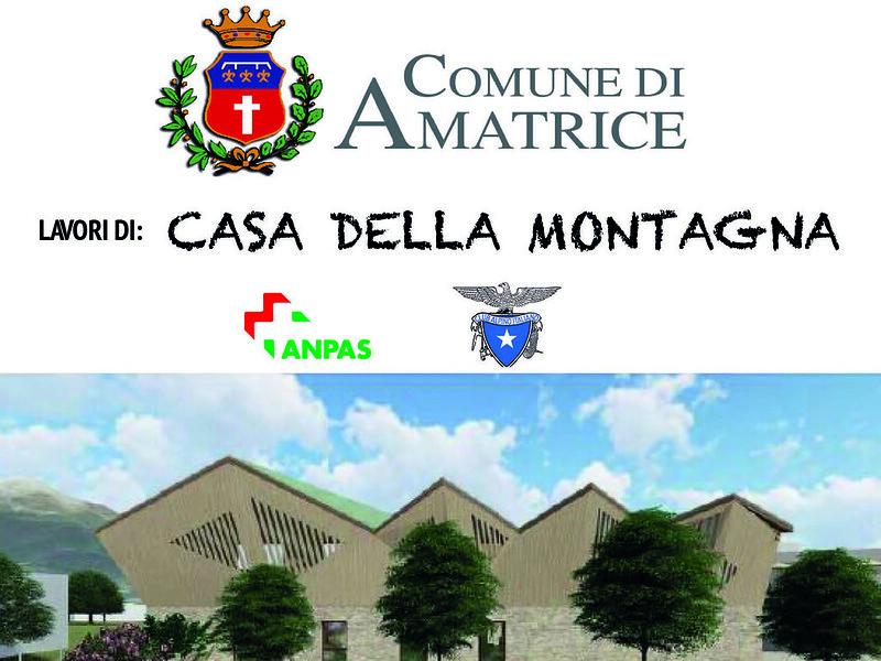 Amatrice, Casa della Montagna: l'11 dicembre la posa della prima pietra