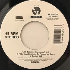 RAHSUN:I'LL BE AROUND(LABEL SIDE-B)