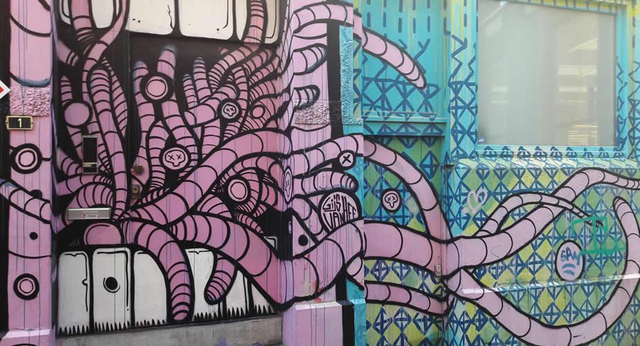 Street art Gijs Vanhee, Antwerpen | Mooistestedentrips.nl