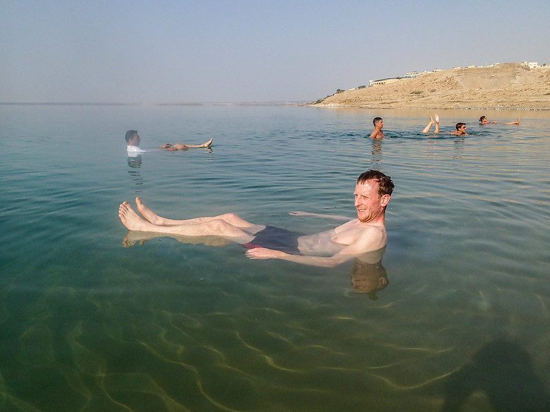 Sun, 2017-11-19 13:08 - Floating in Dead Sea