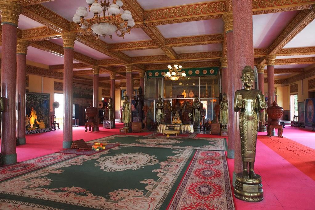 Interior Palacio real de Phnom Penh, Camboya.