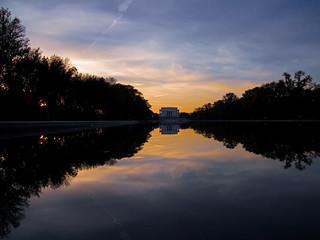 Dusk Falling on the Lincoln Memorial  -- THROWBACK THURSDAY 8.28.18
