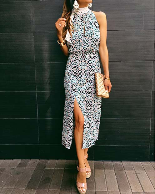 DRESS WITH STATEMENT MAKING PRINT