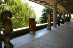 Wood sculptures, Museum of Contemporary Art