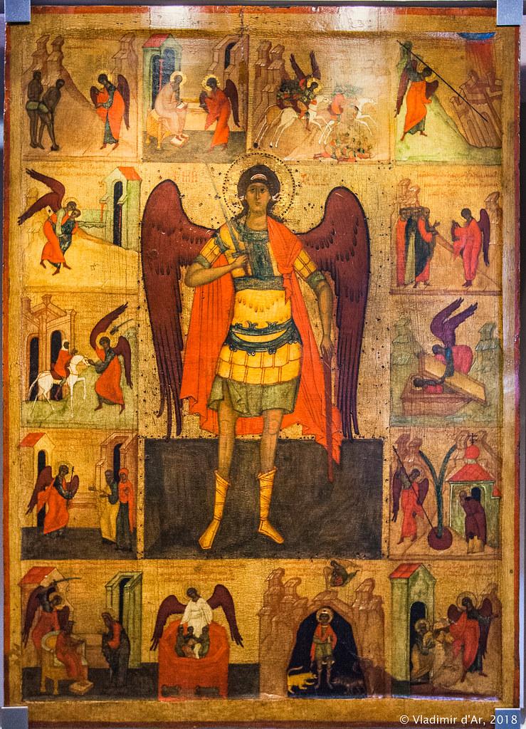 Архангел Михаил, с деяниями. XVI век. Великий Устюг.