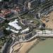 Broadstairs Folk Week in Victoria Gardens - Kent UK aerial image