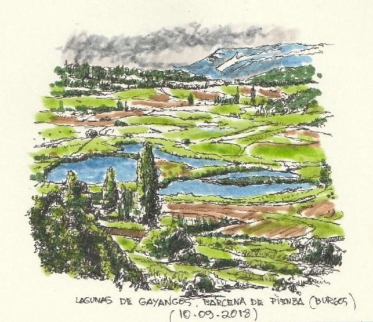 Lagunas de Gayangos, entre Bárcena de Pienza y Gayangos (Burgos)