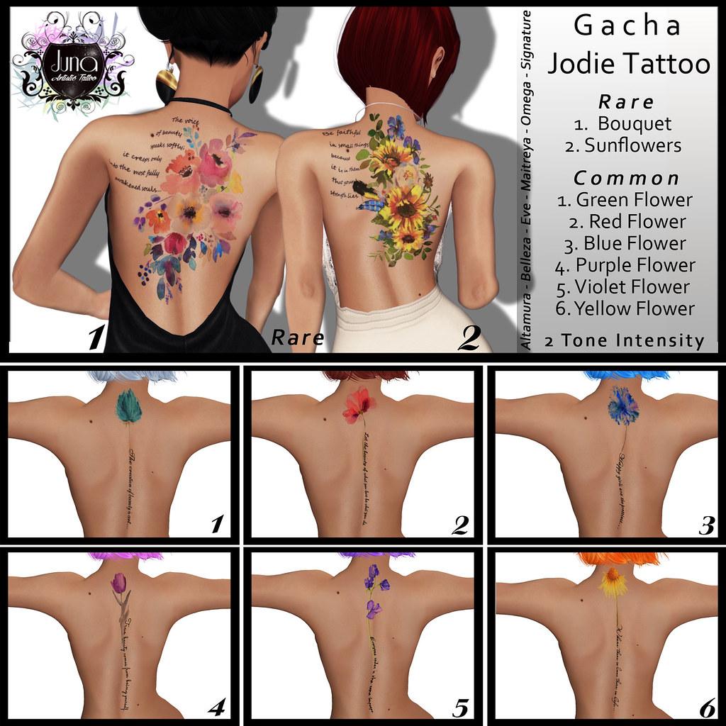 Juna Gacha Jodie tattoo - TeleportHub.com Live!